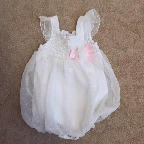 Baby Essentials Girls Bubble Romper Size 3 Months Pink Black Cheetah Chiffon
